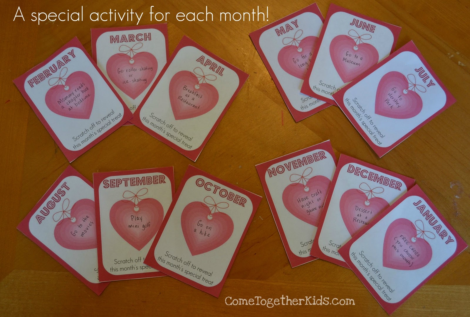 Come Together Kids A Year of Valentines with DIY scratchoffs