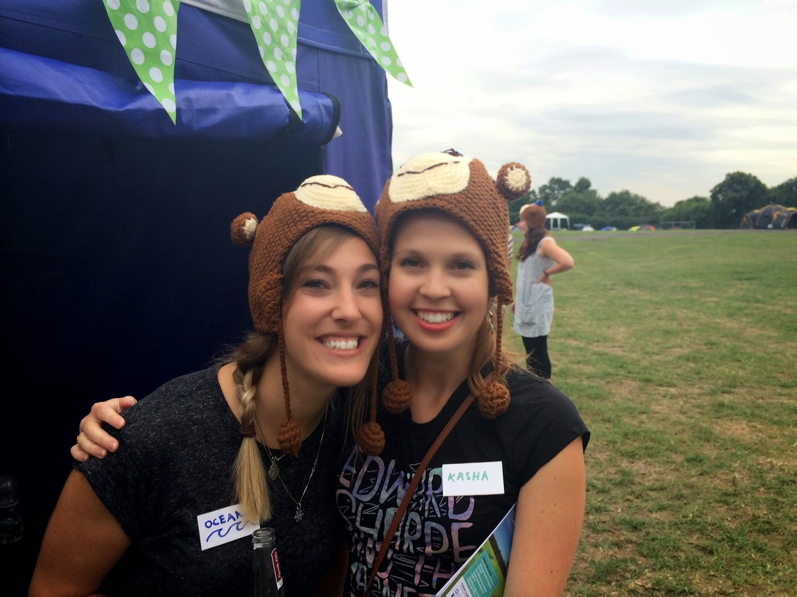 Ocean and Kasha enjoying their Mailchimp hats!