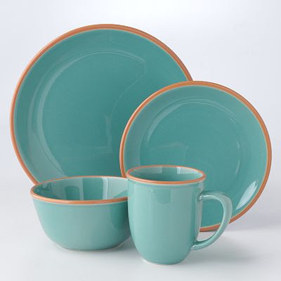 Add a vintage feel to any occasion with this Bobby Flay Turquoise Dinnerware Collection. Each turquoise piece has a contrasting mauve border for a cool ... & Bobby Flay Turquoise Dinnerware Collection | Everything Turquoise