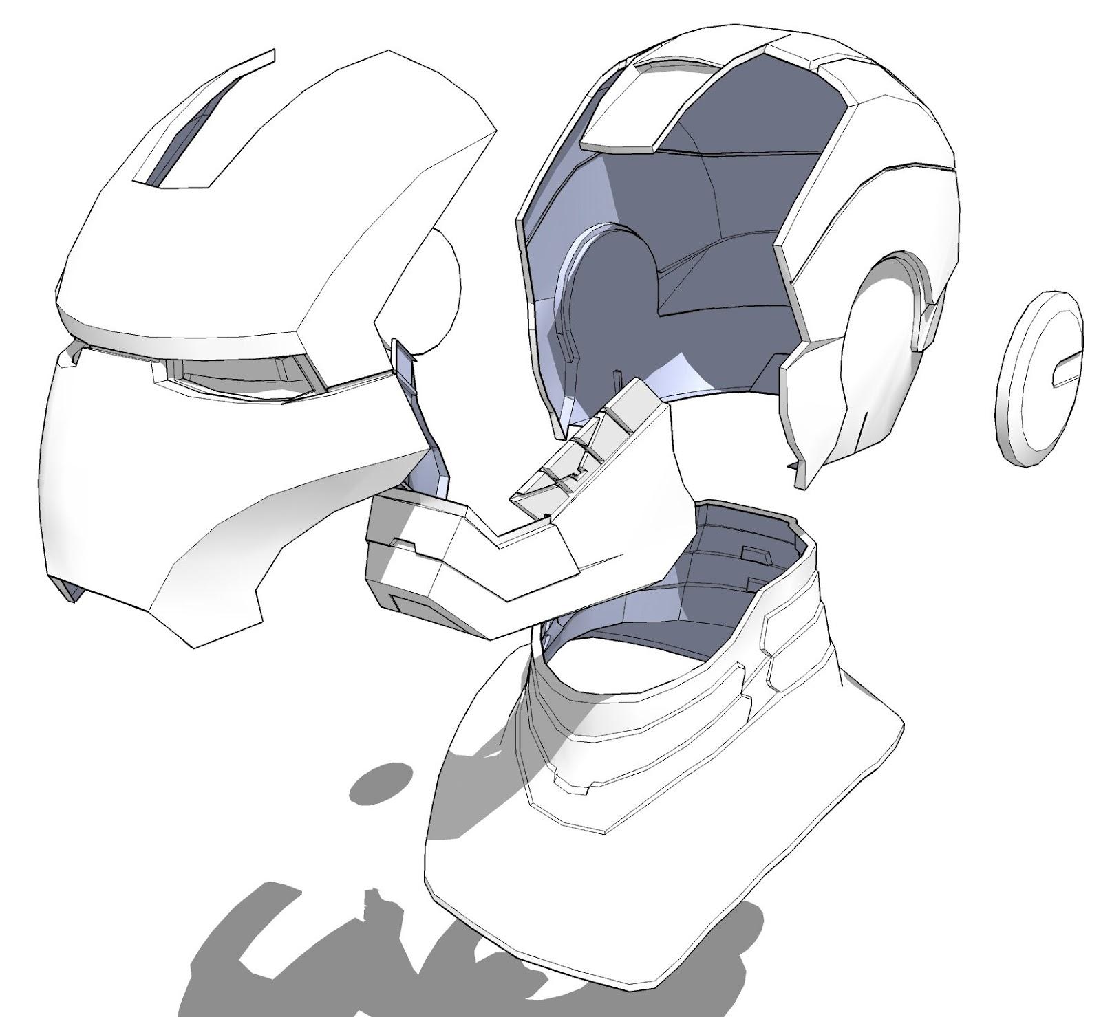 Как сделать шлем железного человека марк 4