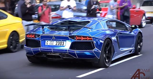 2015年も集結!アラブの富豪がロンドンに持ち込んだスーパーカーがスゴい!
