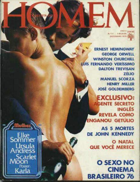 Confira as fotos da Atriz Alemã, Elke Sommer, capa da Revista Homem de Dezembro de 1976!