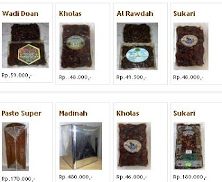 Jual berbagai jenis Kurma