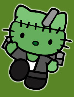 Hello Kitty in Frankenstein costume