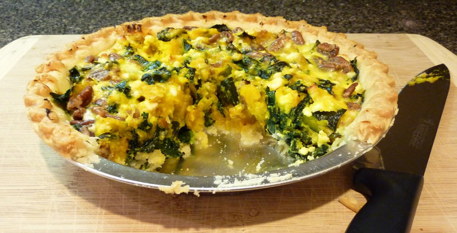 Simple Plates: Roasted Squash and Kale Tart