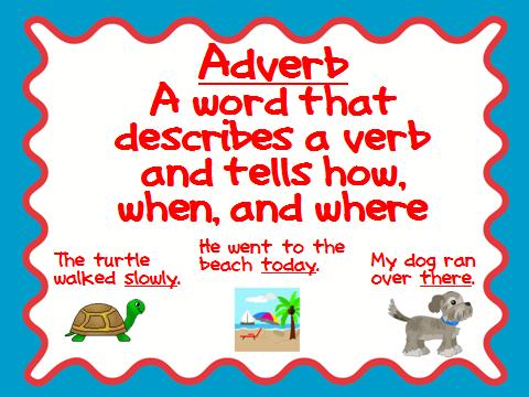 Second Grade Perks: Parts of Speech