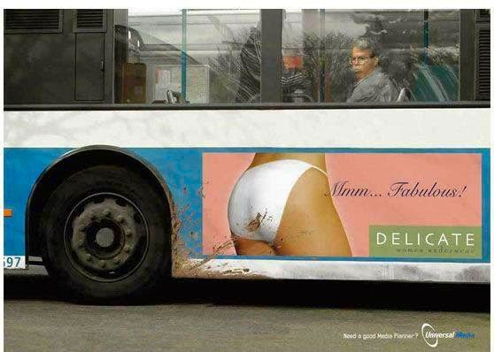 dirty poop ladies panties fail bus ad image