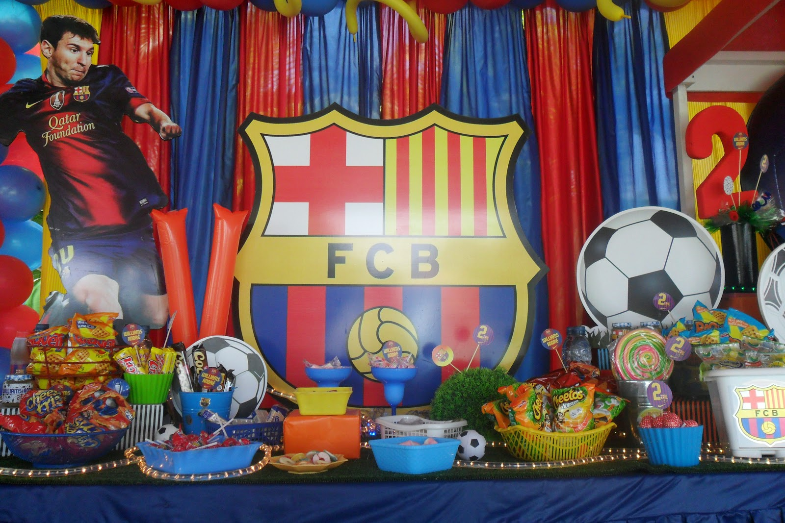 Ursula newman eventos fiesta f tbol - Decoracion infantil barcelona ...