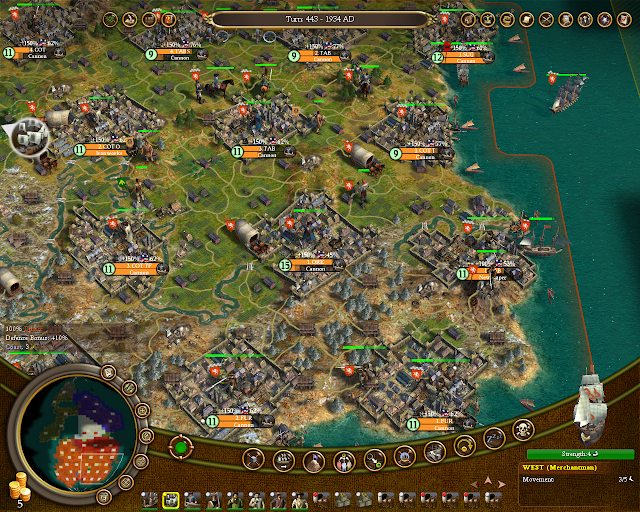 Civilization 4 Colonization - Colony Development Screenshot