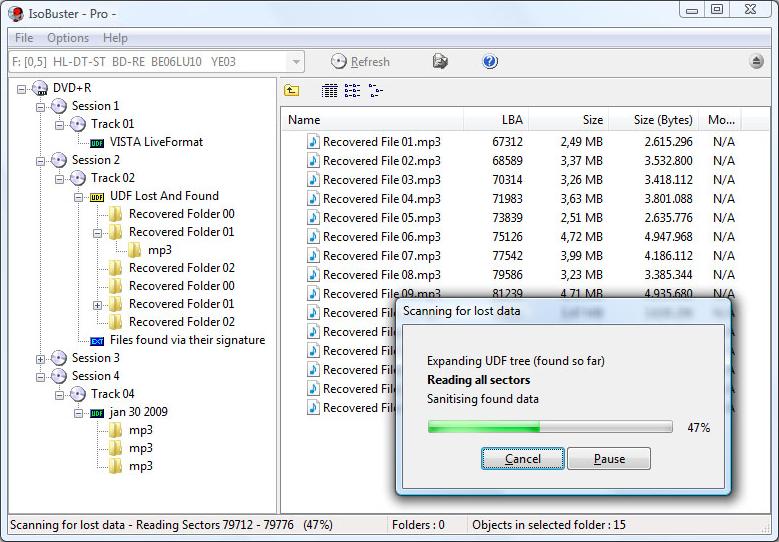 檔案救援、還原軟體推薦:IsoBuster Portable 免安裝版下載