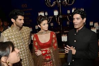 Alia Bhat and Aditya Rao kapoor walk the ramp for Manish Malra at India Couture Week  (7).jpg