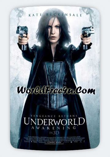 Poster Of Underworld 4: Awakening (2012) Full English Movie Watch Online Free Download At worldfree4u.com