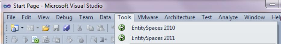 Microsoft EntitySpaces AddIn