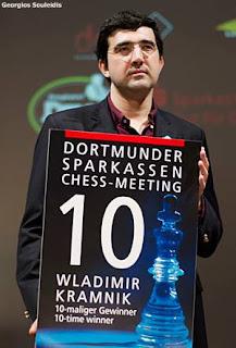 Echecs à Dortmund : le Russe Vladimir Kramnik © Photo Georgios Souleidis