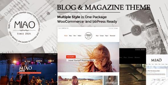 Miao - Multi-Style Blog&Magazine WordPress Theme