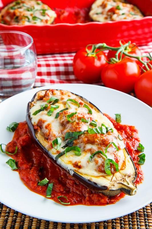 Eggplant Parmesan Boats on Closet Cooking