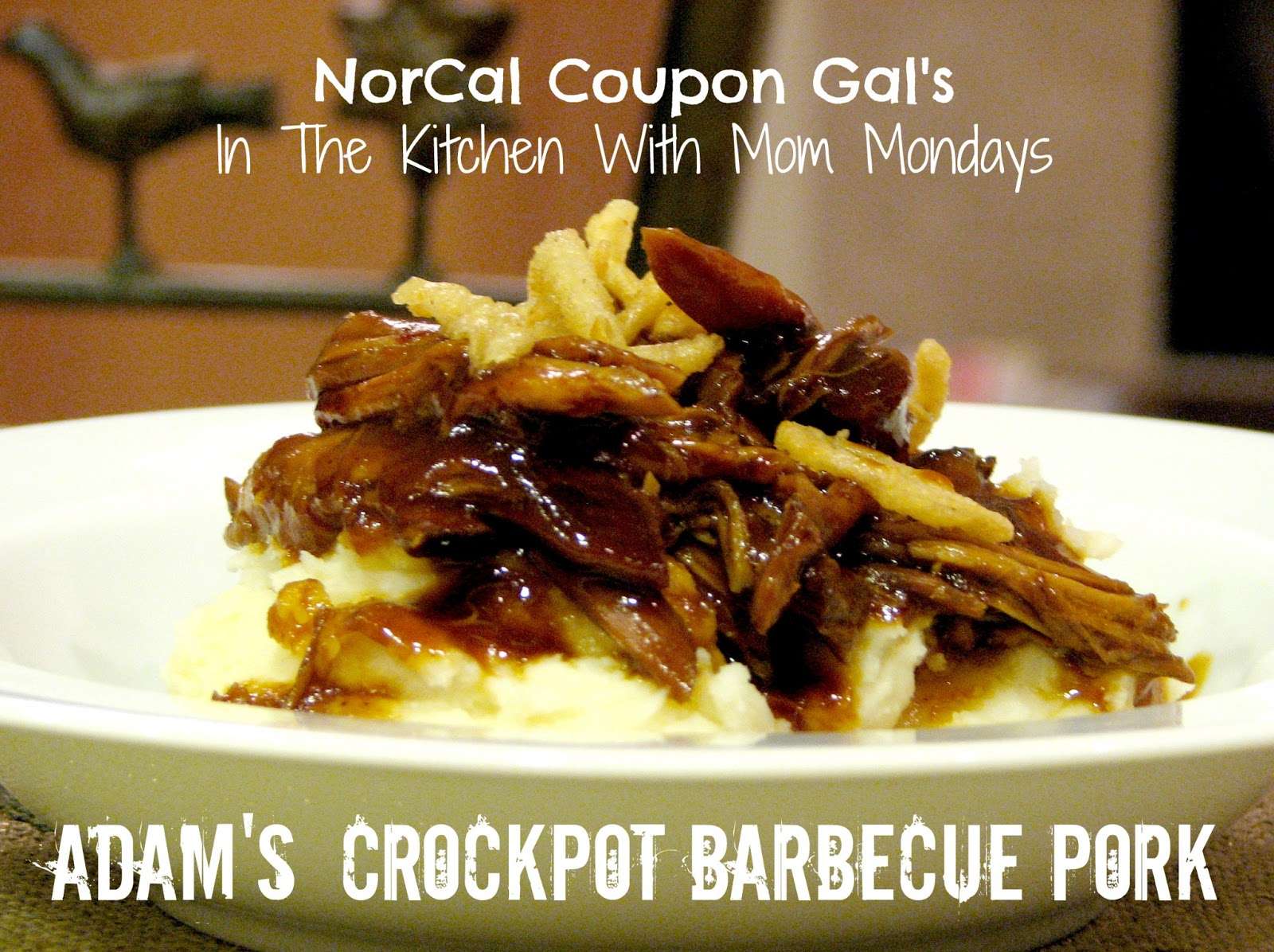 In The Kitchen With Mom Mondays: Adam's crockpot barbecue pork