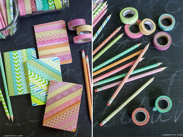 back to school diy with washi tape anne 39 s scribbles and doodles. Black Bedroom Furniture Sets. Home Design Ideas