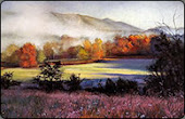 Early Morning in the Smokes - pastel landscape