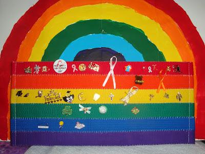 rainbow pinboard