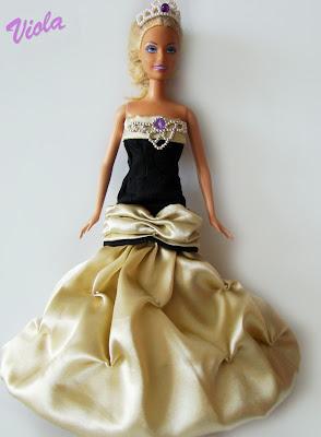 sukienka balowa dla lalki barbie
