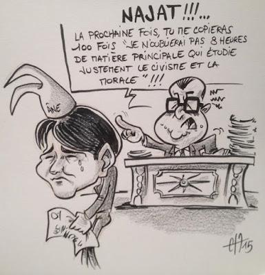 Caricature Najat - Guillaume Néel ©