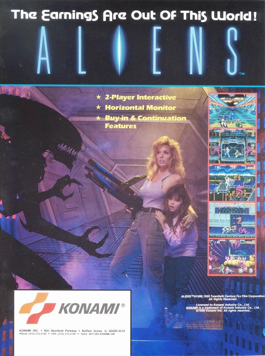 Aliens arcade game portable flyer
