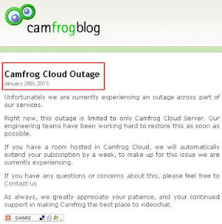 Server Camfrog Cloud Dalam Perbaikan