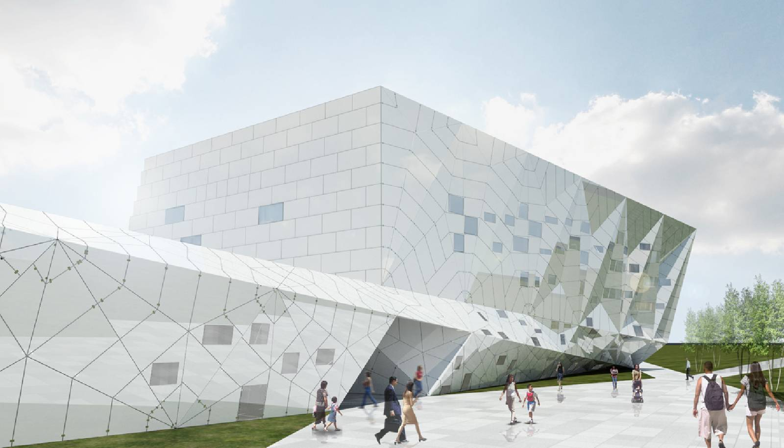 Parametric building viewing gallery