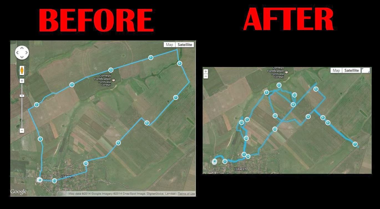 Cum am mai bătut câmpii. Fortificaţia de la Corneşti - Before - After