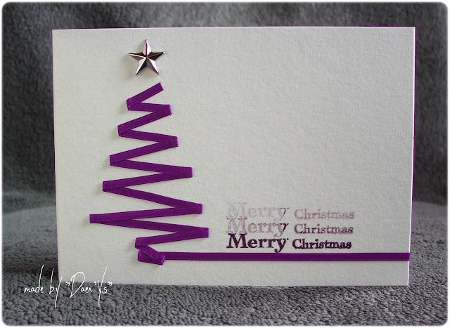 Tarjeta Navidad árbol con cinta