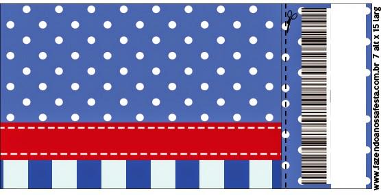 Rayas Azules y Puntos Blancos: Invitaciones para Imprimir Gratis ...