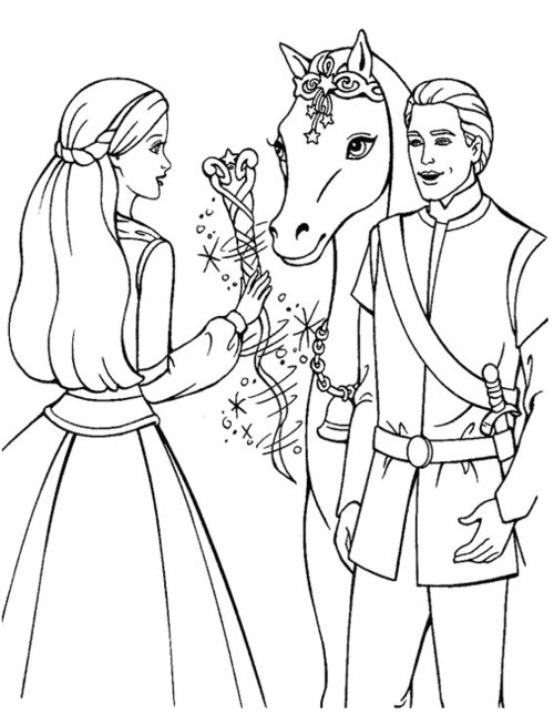 coloring pages princess barbie - photo#36