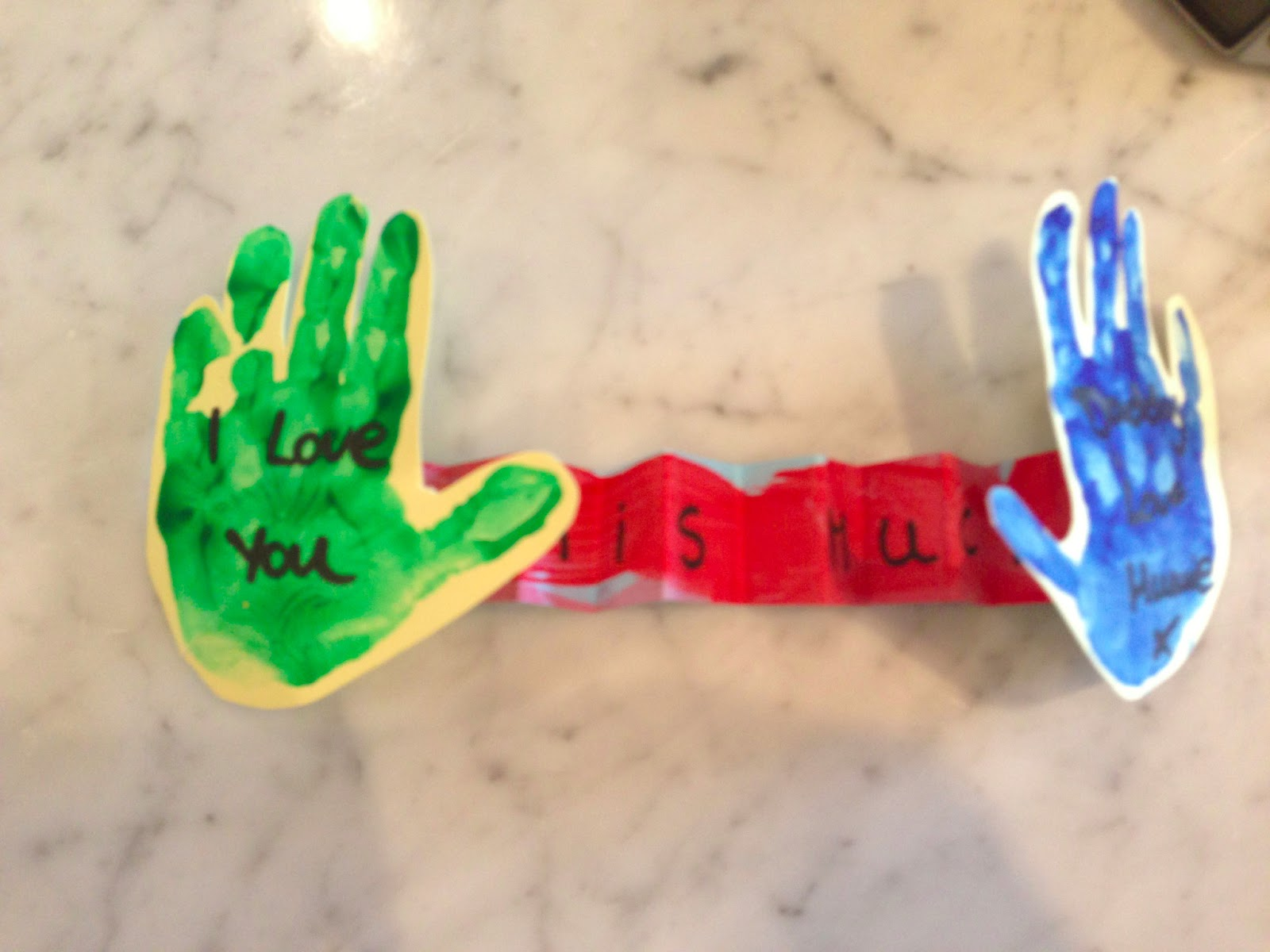 """Toddler Arts and Crafts June """"I love you this much Daddy"""""""