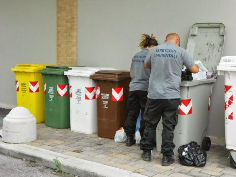 raccolta differenziata, rifiuti, ispettori ambientali