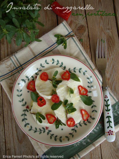 Ogni riccio un pasticcio blog di cucina insalata di for Portulaca commestibile