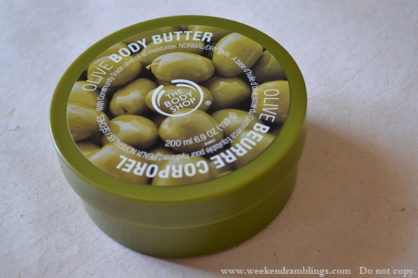 TBS the BodyShop Olive Oil Body Butter Reviews Ingredients Skincare Makeup Beauty Blog