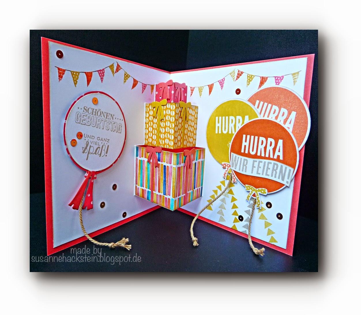 Stempeleinmaleins geschenkestapel pop up karte - Pop up geburtstagskarte ...