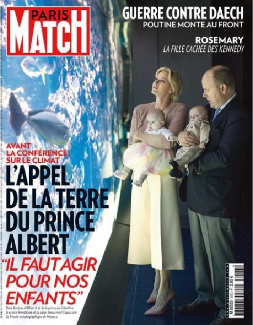 Princess Charlene and Prince Albert and twins Princess Gabriella and Prince-Jacques of Monaco