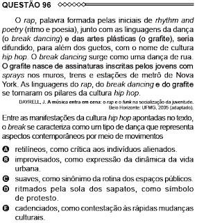 ANÁLISE - ENEM/2015 - QUESTÃO 96 - PROVA AMARELA