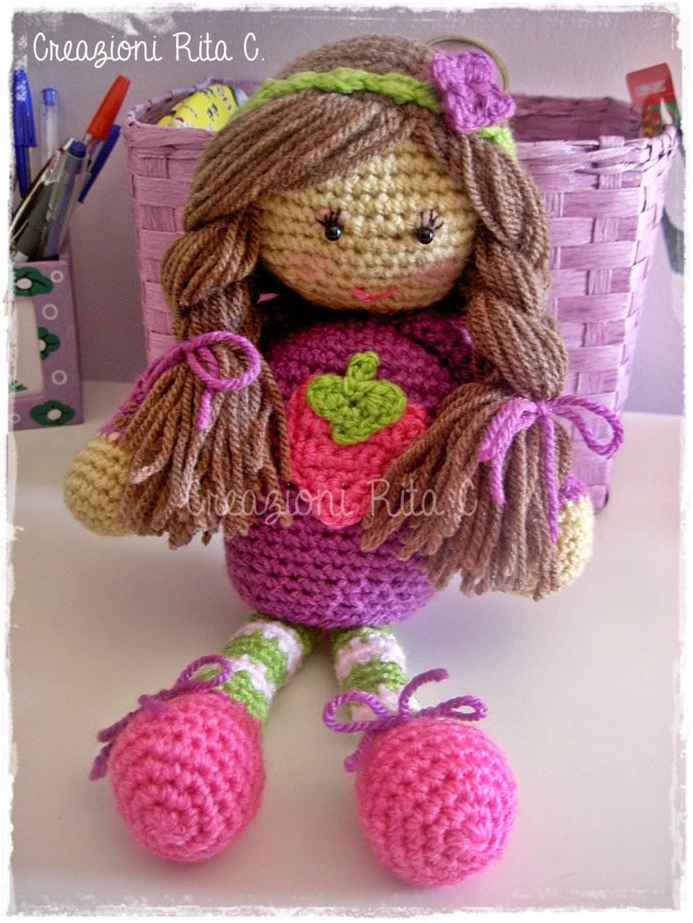 Amigurumi Tutorial Bamboline : Creazioni Rita C. ... Only Handmade!: Le mie Bamboline ...