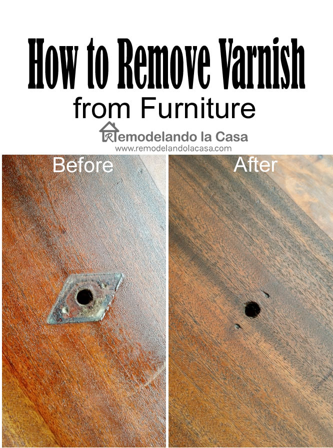 After getting rid of the varnish you go can go ahead and neutralize the wood  from all those chemicals with mineral spirits. Remodelando la Casa  Vintage Sideboard Buffet Makeover