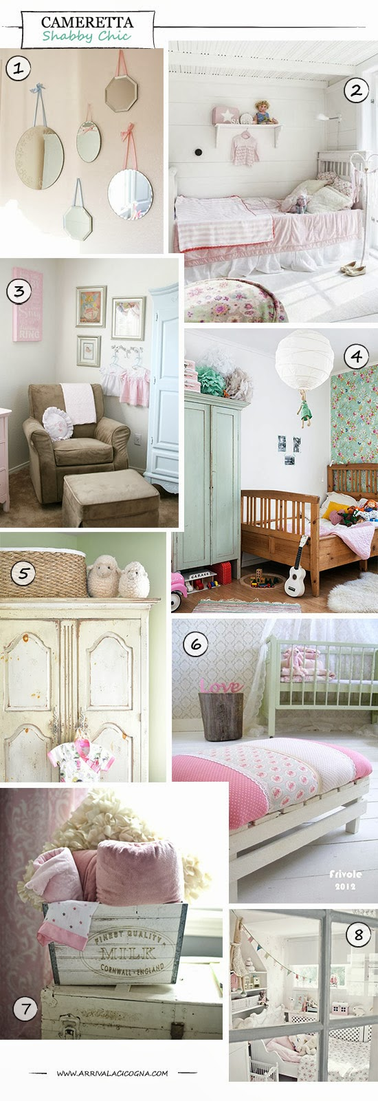 Camerette per bambini stile shabby chic idee in stile shabby chic provenzale e country per - Camerette stile country ...