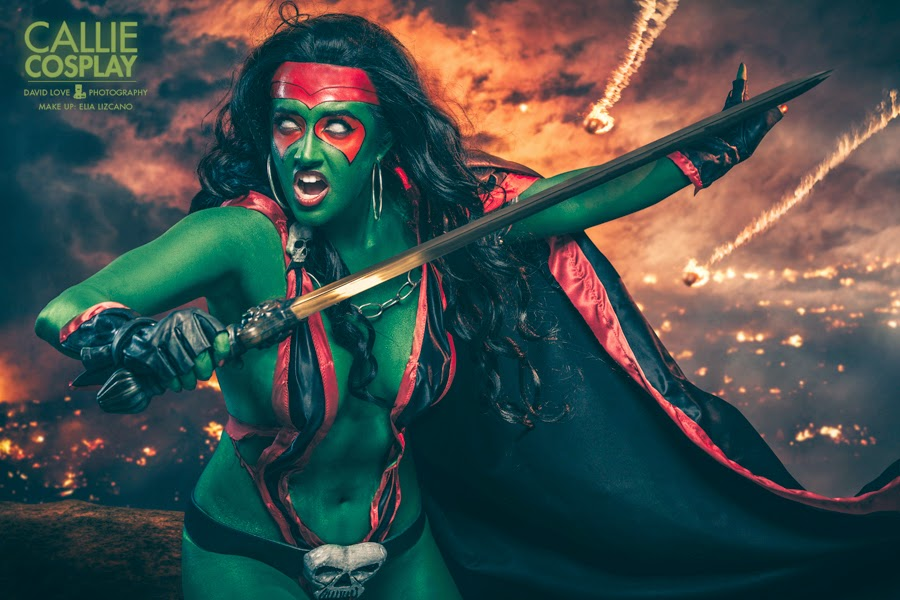 photo de Callie cosplay en gamora
