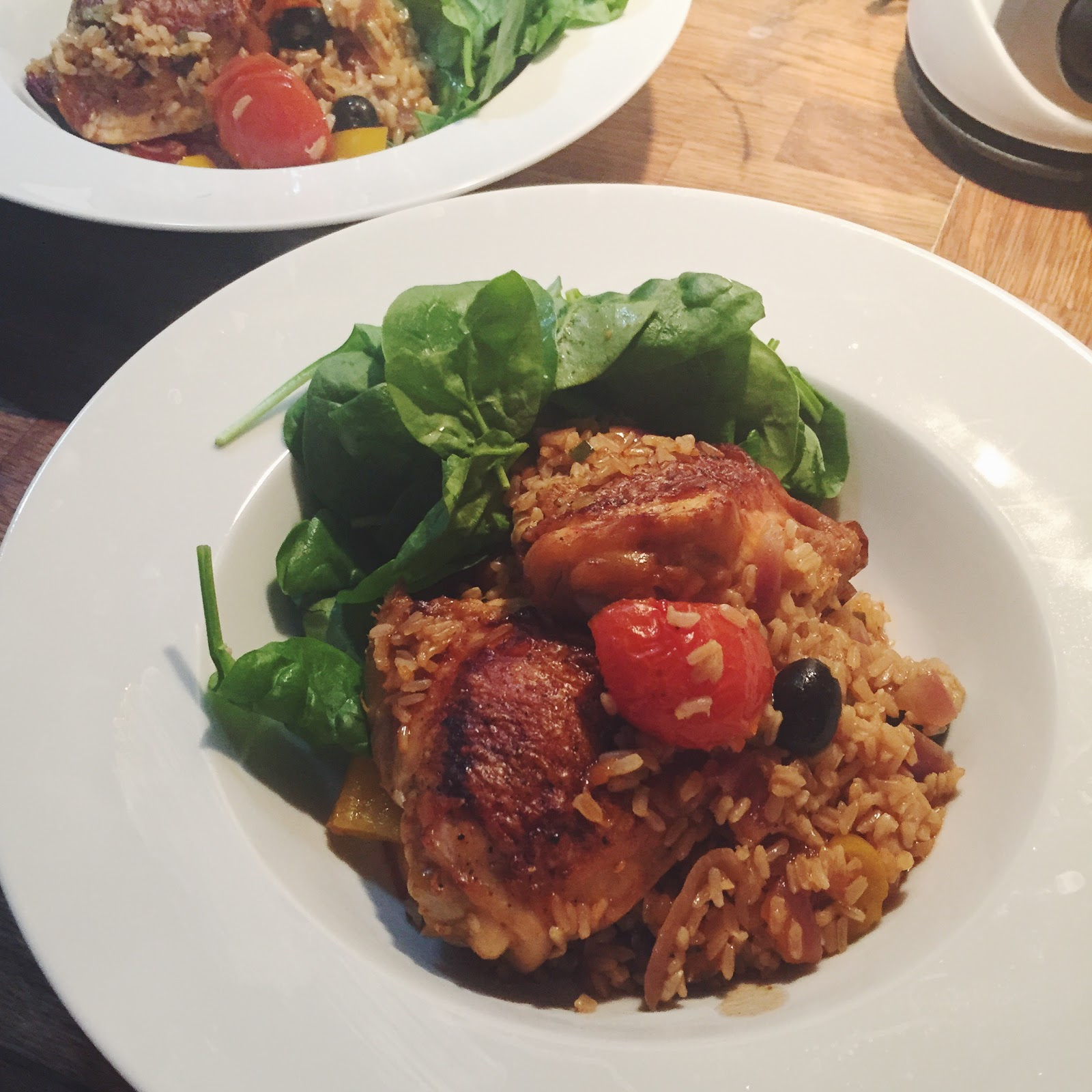 Sweet Monday, recipe, Spanish chicken and rice, one pot chicken and rice