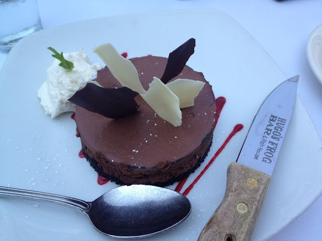 Chocolate dessert from Hugo's Frog Bar