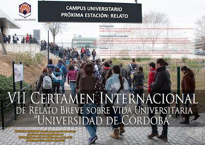 """VII Certámen Internacional de relato brreve sobra la vida universitaria """" Universidad de Córdoba"""""""