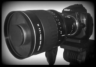 Vivitar 500mm f/6.3 DX Series 1 Mirror Lens. Mi nuevo juguete. Abuelohara.