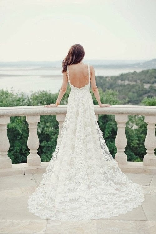 Low Back Flowy Wedding Dress : Pickeddresses wedding dresses show the sexy and beautiful back