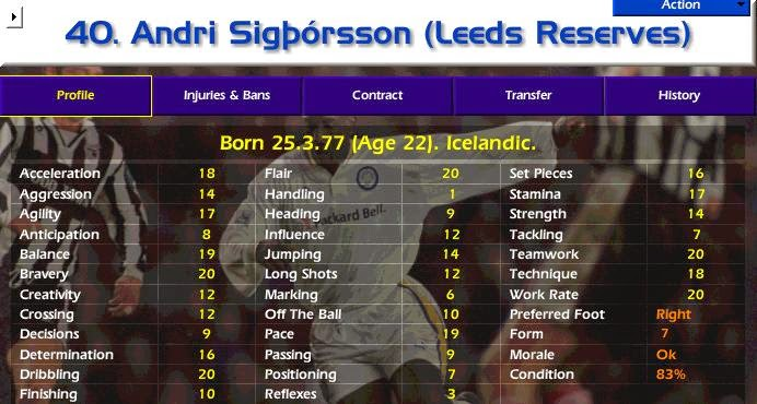 Football Manager, Championship Manager, FM. CM, Best XI, Best Striker, Best Forward, Best Attacker, Andri Sigporsson